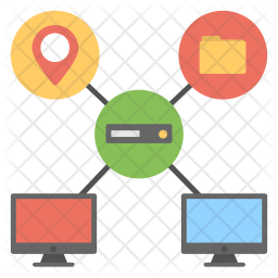 Multitasking Web Hosting Icon