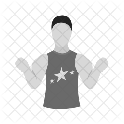 Muscular man Icon