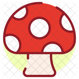 Mushroom Colored Outline Icon