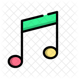 Music Colored Outline Icon