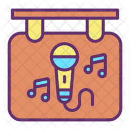 Music Advertising Board Icon