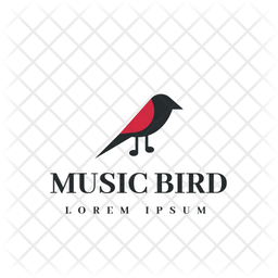 Music Bird Colored Outline Icon