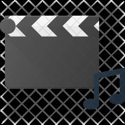 Music Clip Flat Icon