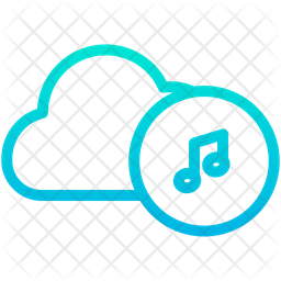 Music Cloud Icon Of Gradient Style Available In Svg Png Eps Ai Icon Fonts