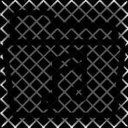 Music folder Line Icon