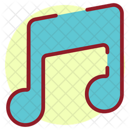 Music Note Colored Outline Icon