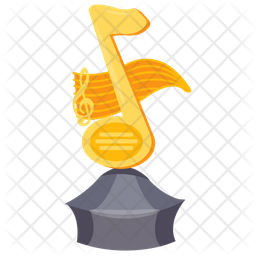 Music Note Trophy Icon