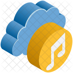 Music Storage Isometric Icon