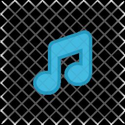 Music tune Colored Outline Icon