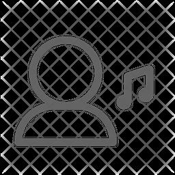 Music user Line Icon