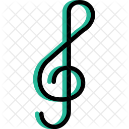 Musical, Note, Music, Play, Sound, Entertainment Icon of Colored Outline  style - Available in SVG, PNG, EPS, AI & Icon fonts