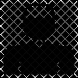 Muslim Glyph Icon