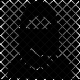Muslim Girl Glyph Icon