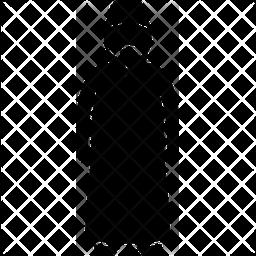 Muslim man Glyph Icon