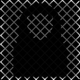 Muslim Woman Glyph Icon