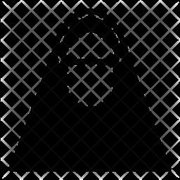 Muslim Women Glyph Icon
