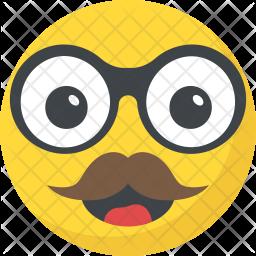 Mustache Emoji Icon