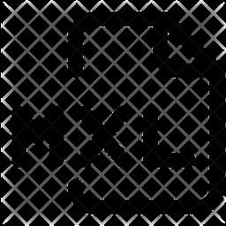 Mxl File Line Icon