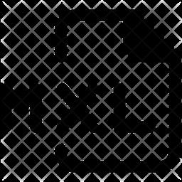 Mxl File Glyph Icon