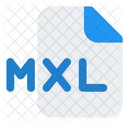 Mxl File Gradient Icon