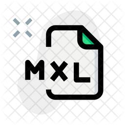 Mxl File Colored Outline Icon
