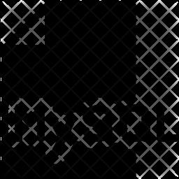 Mysql file Glyph Icon