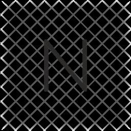 N Letter Glyph Icon
