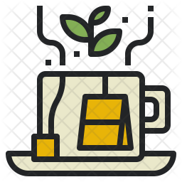 Natural tea Colored Outline Icon