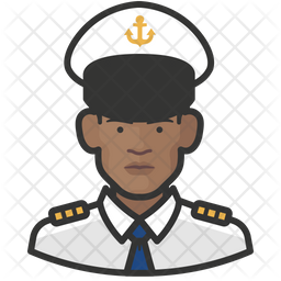 Naval Black Officers Icon