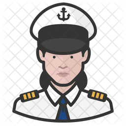 Naval Officers White Female Icon
