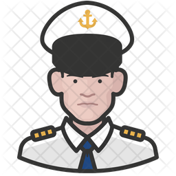 Naval Officers White Male Icon