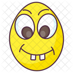 Nerd Egg Colored Outline Icon