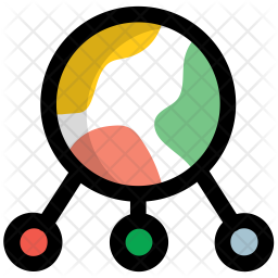 Network Colored Outline Icon