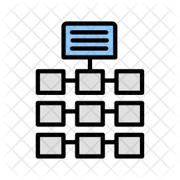 Network, Building, Link, Connection Icon