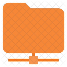 Network connected folder Icon