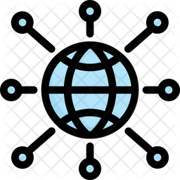 Network Connection Colored Outline Icon