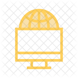 Network device Colored Outline Icon