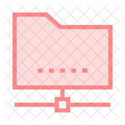 Network Folder Colored Outline Icon