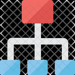 Network Hierarchy Icon