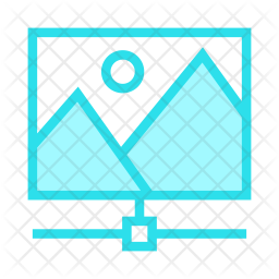 Network image Colored Outline Icon