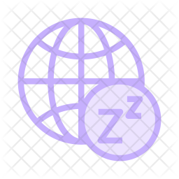 Network on Sleep Colored Outline Icon