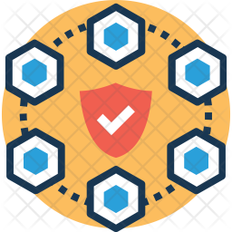 Network protection Colored Outline Icon