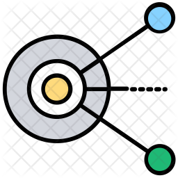 Network Sharing Colored Outline Icon