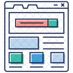 Network Sitemap Colored Outline Icon