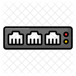 Network Switch Icon Of Colored Outline Style Available In Svg Png Eps Ai Icon Fonts