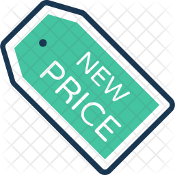 New Price tag Colored Outline Icon