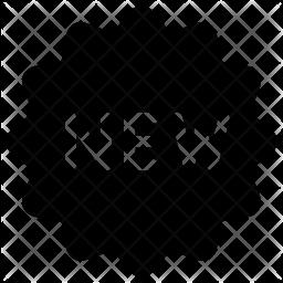 New sticker Glyph Icon