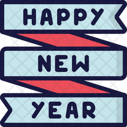 New Year Banner Icon
