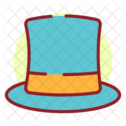 New Year Hat Colored Outline Icon