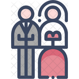 Newly Wed Colored Outline Icon